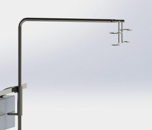 Г-образная капельница с регулировкой высоты, нержавеющая сталь